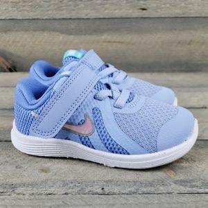 New Nike Revolution 4 (TD) Toddler Girls Blue/Pink